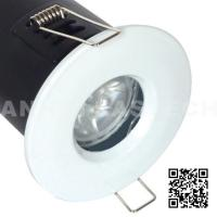 MR16 GU10 Aluminium Bathroom IP65 Fire Rated Downlight Fittings - White Color