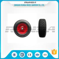 China Pneumatic Heavy Duty Rubber Wheels 16 , Replacement Trolley Wheels Anti Skidding on sale