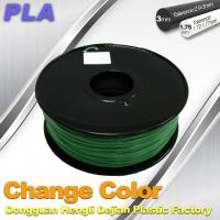 1.75 / 3.0mm 3D Printing PLA Filament , Color Changing Filament  Blue Green to Yellow Green Manufactures