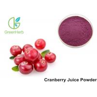 China Pure Cranberry  Fruit Juice Powder High Proantho Cyanidins For Function Foods on sale