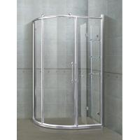 6/ 8 mm Sector Shower Stalls Bright Silver Aliminum Alloy Frames With Shower Shelf Manufactures