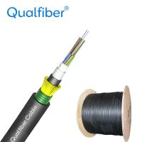 Quality 24F G652D Direct Burial Single Mode Fiber Optic Cable GYFTA53 For Underground for sale