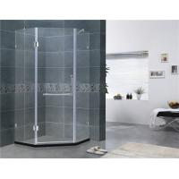 Simple Diamond Shape Frameless Hinged Shower Door Clear Glass For Home / Villa Manufactures