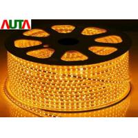 China Green 110V Super Bright LED Christmas Rope Lights Warm White 7.5MM Thickness on sale