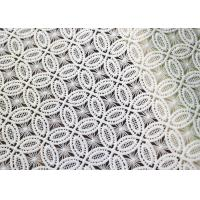 Couture Bridal Heavy African Cord Guipure Embroidered Lace Fabric For Women Dress OEM / ODM Manufactures