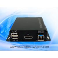 Buy cheap OEM Displayport KVM fiber extenders for  2K/4K Displayport V 1.1 and USB1.0 signals over single mode fiber to 10KM from wholesalers