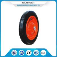 "Heavy Duty Solid Rubber Trolley Wheels Metal Hub Wear Resistance 13""X3"" Size Manufactures"