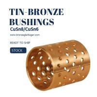 Tin Bronze DIN CuSn8 Flange Sleeve Bushings DIN ISO/3547 Manufactures