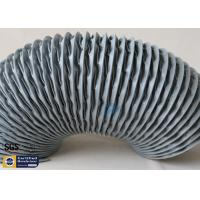 PVC Coated Fiberglass Fabric Flexible Air Ducts 200MM Grey Waterproof Fireproof Manufactures