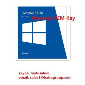 China Original Windows 8 Product Activation Key , Windows 8.1 Professional OEM Single Key on sale