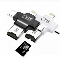 4 In 1 Type - C Lightningusb Micro Sd Card Reader , USB 2.0 Sd Memory Card Reader Manufactures