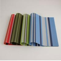 PVC coated mesh fabric table mat easy clean one style placemat Manufactures