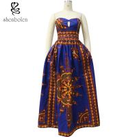 100% Cotton Big Size African Print Skirts And Dresses , African Couture Dresses Manufactures