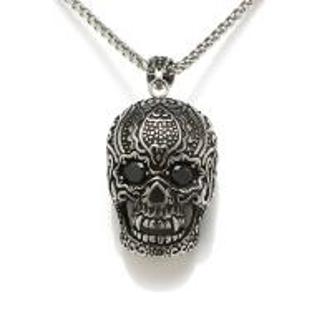 China Wholesale Men Fashion Jewelry Cool Hip Hop Vintage Skull Head Pendant Necklace on sale