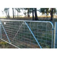 Quality Heavy Duty Livestock Gates And Panels , Wire Mesh Galvanized Farm Gates for sale