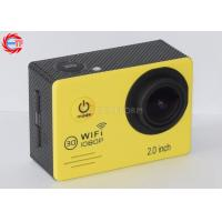 Waterproof Full HD Sports Action Camera ,  Esj7000 Yellow Sports Helmet Camera Manufactures