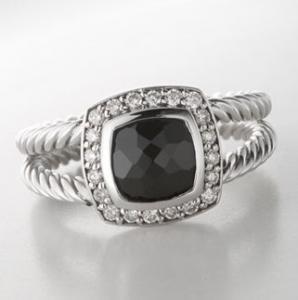 David Yurman Ring,7mm Black Onyx Petite Albion Ring