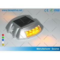 Quality Flashing Solar Barricade Lights Aluminum Shell LED Road Barrier Light With All for sale