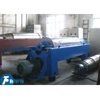 Horizontal Spiral Discharge Industrial Decanter Centrifuge With Continuous Deposition Manufactures