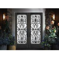 Professional Iron Glass Entry Doors For Building Sound Insulation Manufactures