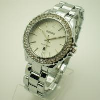 China Stainless Steel quartz watches for women , womens wrist watch with diamond on sale