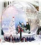 China Christmas Promotion PVC Tarpaulin Inflatable Snow Globe, Giant Inflatable Human Snowglobe on sale