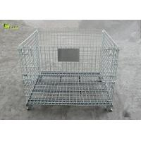 Industrial Transport Metal Shelves Collapsible Storage Cabinet Mesh Turnover Box for sale