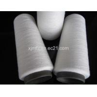 Quality 32/1 100% Polyester Spun Yarn Snow White for sale