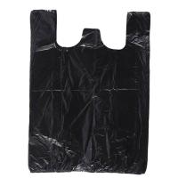 Black Color 60 Gallon Biohazard Garbage Bags Replacement Side Gusset Bag Biodegradable