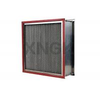 High Temperature Hepa Filters H13 Efficiency Stainless Steel Frame 250 ℃ Manufactures