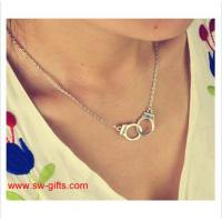 New Fashion Jewelry Handcuffs Choker Pendant Necklace Girl lover Valentine's Day Gifts Manufactures