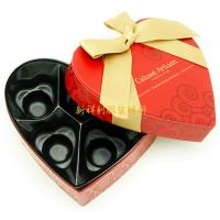 China Heart Shaped Colored Cardboard Gift Boxes With Magnetic Closure And Ribbon on sale