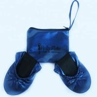 Stock and Discount Best Price Wholesale Navy Blue Roll Up Driving Shoes with OEM Printing Logo in a Bag Manufactures
