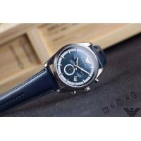 Quality Armani Watch AR1652 EMPORIO ARMANI WAGIANNI MENS BLUE LEATHER CHRONOGRAPH WATCH CODE:AR165 for sale