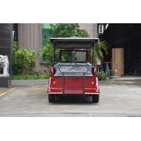 Electric Powered Vintage 8 Person Golf Cart Tour Bus With 48V DC Motor