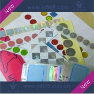 China Hologram sticker,laser label,rainbow sticker on sale