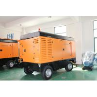 Quality Electric Portable Trailer Air Compressor , Rock Drill High Pressure Air for sale