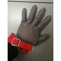 Stainless Steel Mesh Safety Gloves , Kitchen Safety Meat Slicer Gloves Manufactures