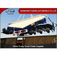 40M3 Bulk Cement Tanker Trailer 3 Axles With Air Compressor And Diesel Engine Manufactures