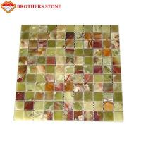 Green Jade Onyx Slab , Natural Onyx Mosaic Tile For Kitchen Floor Manufactures
