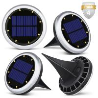 China White Solar Powered LED Ground Lights / Solar Lights For Driveway Entrance on sale