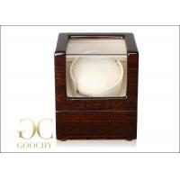 China Cream Inside Automatic Watch Winders / Wooden Watch Winder Box on sale