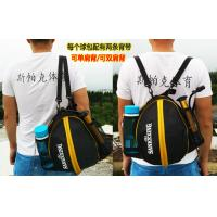 Eco Friendly Durable String Backpack , Black / Yellow Thick Drawstring Backpack Manufactures