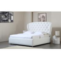 China Contemporary White Italian Queen Bed Side Frame Modern Design on sale