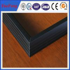6063 Black Anodized Solar aluminum frame Manufactures