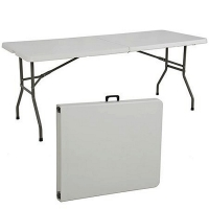 China 6' Rectangular Table 30 x 72 Heavy Duty White Granite Plastic Folding Table on sale