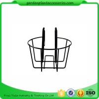 Round Metal Wire Balcony Planting Hanging Baskets / Hanging Pots For Plants Manufactures