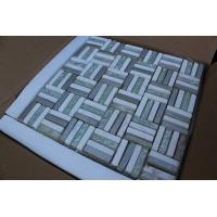 Polygon Stone Bathroom Glass Mosaic Tile Electroplate Smooth Finish Manufactures