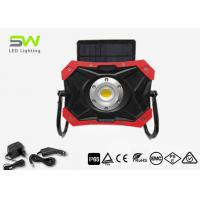 China Solar LED Work Light 10W Work Light Rechargeable by AC DC Adapter IP65 on sale