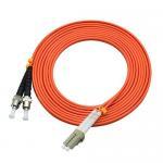 850 Wavelength Optical Fiber Patch Cord 3 Ft LC To ST Duplex 50 / 125um OM2 Manufactures